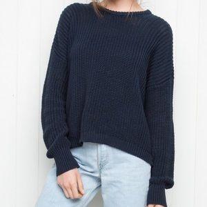 Brandy Melville Ollie Sweater - Navy